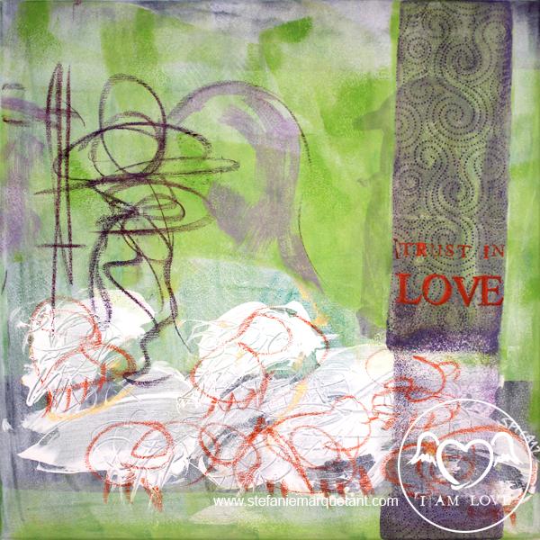 | »TRUST IN LOVE: schafhirte« | Collage / Acryl auf Leinwand | 50 x 50 cm | verkauft |