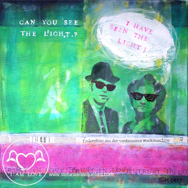 | »TRUST IN LOVE: the light« | Collage / Acryl auf Leinwand | 50 x 50 cm | Preis auf Anfrage |