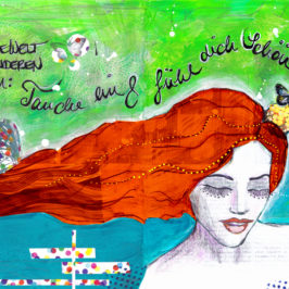 Mermaid Mixed Media Stefanie Marquetant