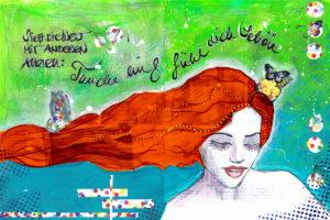 Mermaid Mixed Media Stefanie Marquetant