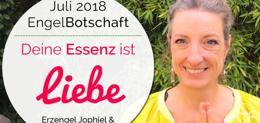 EngelBotschaft Juli 2018: Verbinde dich mit deinem Seinszustand der Liebe | Erzengel Jophiel & Mutter Maria