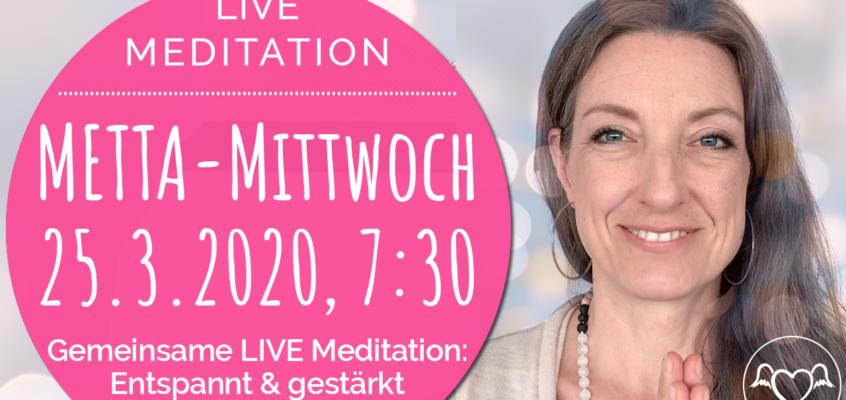 METTA-Mittwoch: Gemeinsam meditieren. Gestärkt & entspannt in den Tag starten.